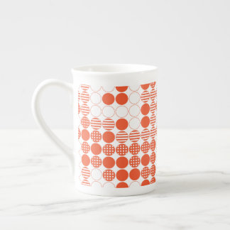 Red - Four In A Row Tea Cup