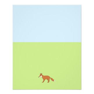 Red Fox. 11.5 Cm X 14 Cm Flyer
