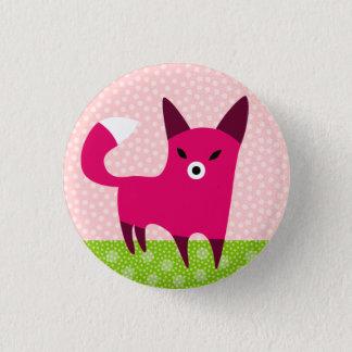 Red Fox 3 Cm Round Badge