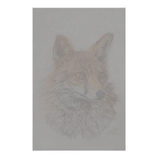 red fox art stationery design