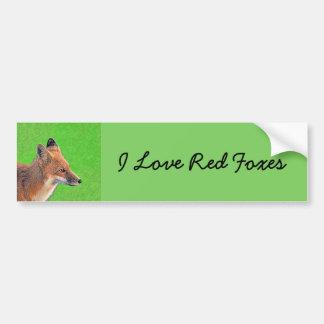 Red Fox Bumper Sticker