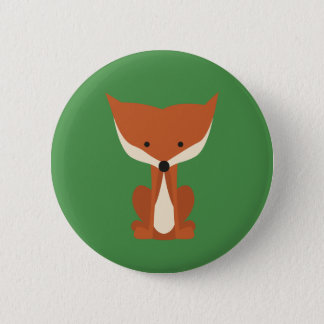 Red Fox Button Badge