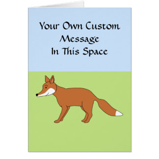 Red Fox. Card