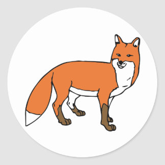 Red Fox Classic Round Sticker