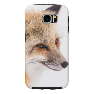 Red fox close-up samsung galaxy s6 cases