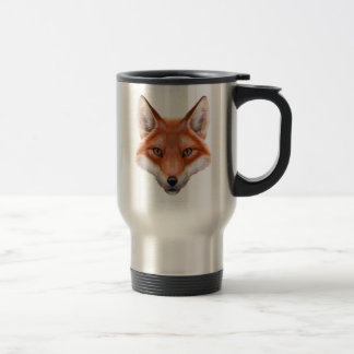 Red Fox Face Travel Mug