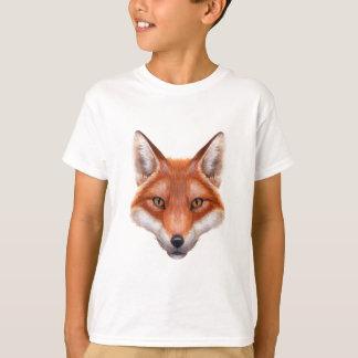 Red Fox Face White T-Shirt
