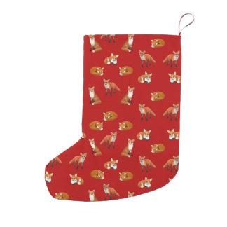 Red Fox Family Christmas Stocking