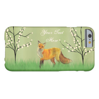 Red Fox Forest Trees Green Barely There iPhone 6 Case