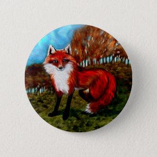 Red Fox Foxes Wildlife Animals Button