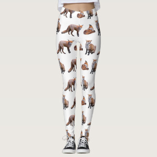 Red Fox Frenzy Leggings (choose colour)