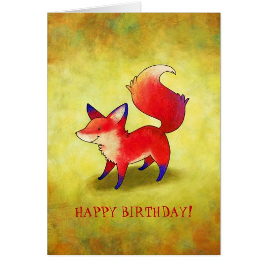 Red Fox Greeting Card(customisable) Card