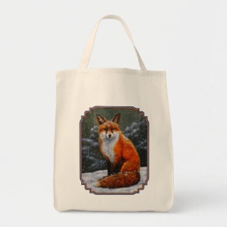 Red Fox in Falling Snow
