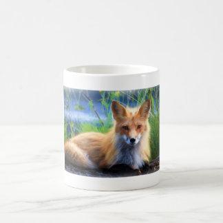 Red Fox Laying in the Grass Scenic Wildlife Coffee Mug