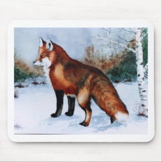 Red Fox Mouse Pad