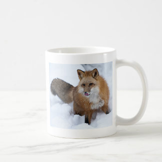 Red Fox ni the Snow Classic White Coffee Mug