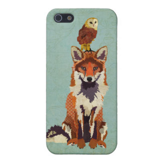 Red Fox & Owl iPhone Case iPhone 5 Case