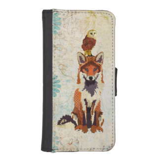 Red Fox &  Owl Wallet Case iPhone 5 Wallet Case