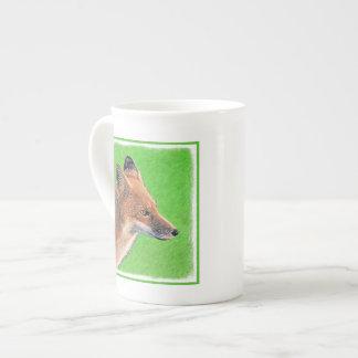 Red Fox Painting - Original Wildlife Art Tea Cup