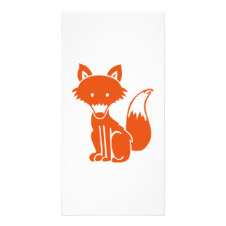 Red fox customised photo card