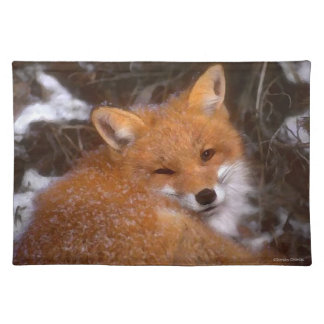"""Red Fox"" Placemat"