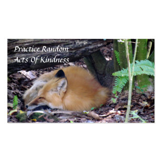 Red Fox Random Acts of Kindness Card Pack Of Standard Business Cards