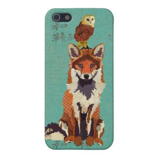 Red Fox Retro & Owl iPhone Case iPhone 5 Case