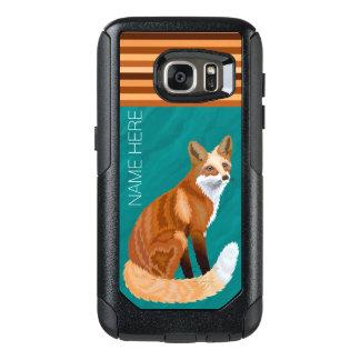 Red Fox Retro Style galaxys7 Optional Stripes OtterBox Samsung Galaxy S7 Case