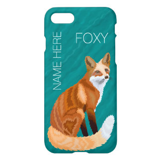 Red Fox Retro Style iphone7 Add Your Name Foxy iPhone 8/7 Case