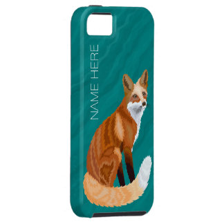 Red Fox Retro Style iphoneSE Teal Marble Look iPhone 5 Covers
