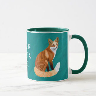Red Fox Retro Style Morning Brew Fun What A Fox Mug