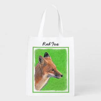 Red Fox Reusable Grocery Bag