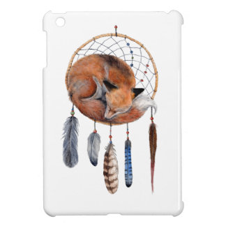 Red Fox Sleeping on Dreamcatcher Cover For The iPad Mini