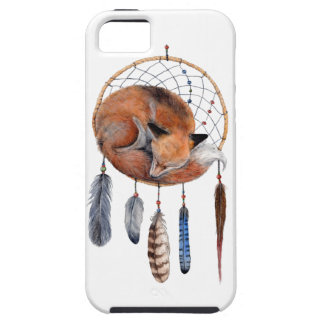 Red Fox Sleeping on Dreamcatcher iPhone 5 Cover