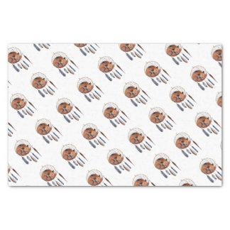Red Fox Sleeping on Dreamcatcher Tissue Paper