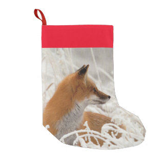 Red Fox Small Christmas Stocking