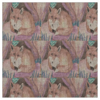 Red Fox, Stained Glass Fabric
