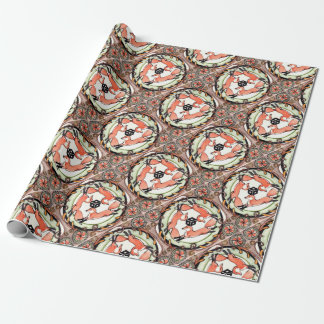 Red Fox Trio Mystical Tile Design Home Decor Wrapping Paper