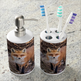 Red Fox up close and personal Bathroom Sets