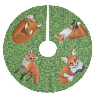 Red Fox Wildlife Christmas Tree Skirt