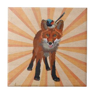 RED FOX & WREN Tile
