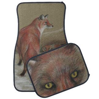 red foxes car mats floor mat