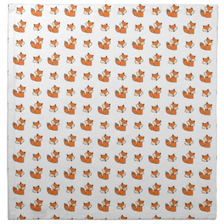 red foxes pattern napkin
