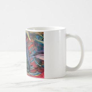 red fractal basic white mug