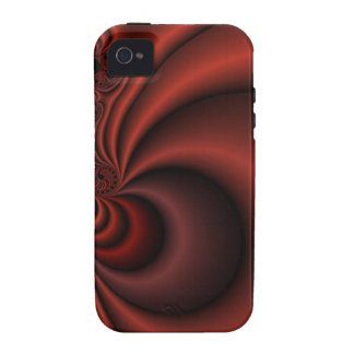 red fractal vibe iPhone 4 cover