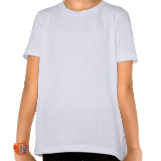 Red Fractal Lace Heart Girls T-Shirt