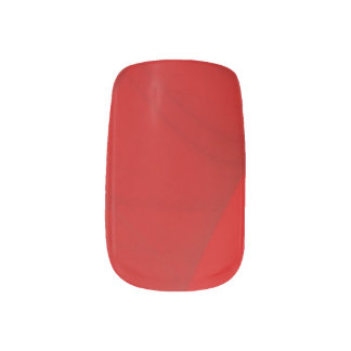 Red Fractal Nail Art Wraps