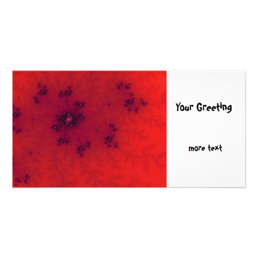Red Fractal Photo Card Template