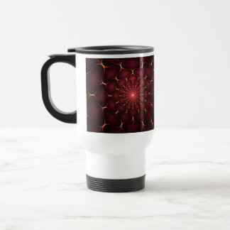 Red Fractal Stainless Steel Travel Mug