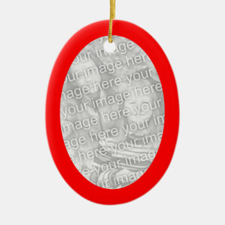 Red Frame Oval Ornament